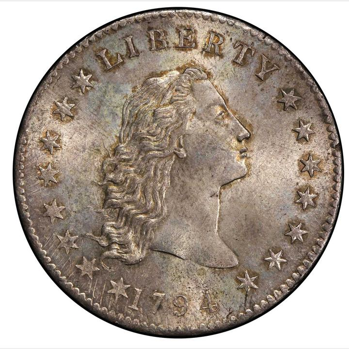1794 Flowing Hair Silver Dollar Bowers Borckardt 1 Bolender Rarity 4 Mint State 66 Pcgs Stacks
