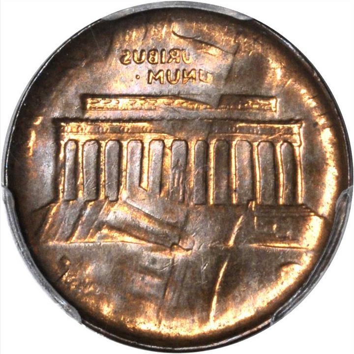 Undated Lincoln Cent  Memorial Reverse  Bronze--Double