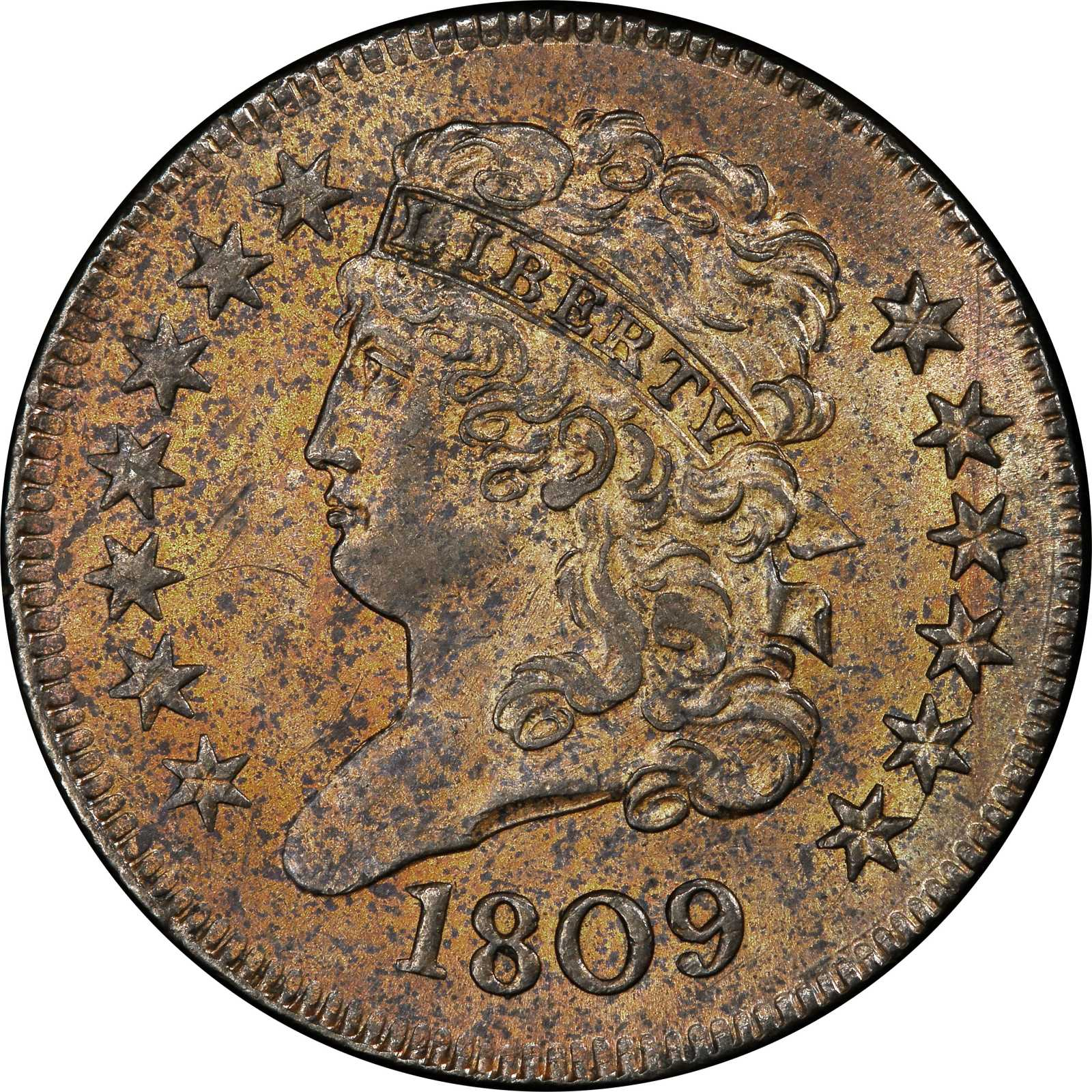1809 Classic Head Half Cent  Cohen-2, Breen-3  Rarity-3