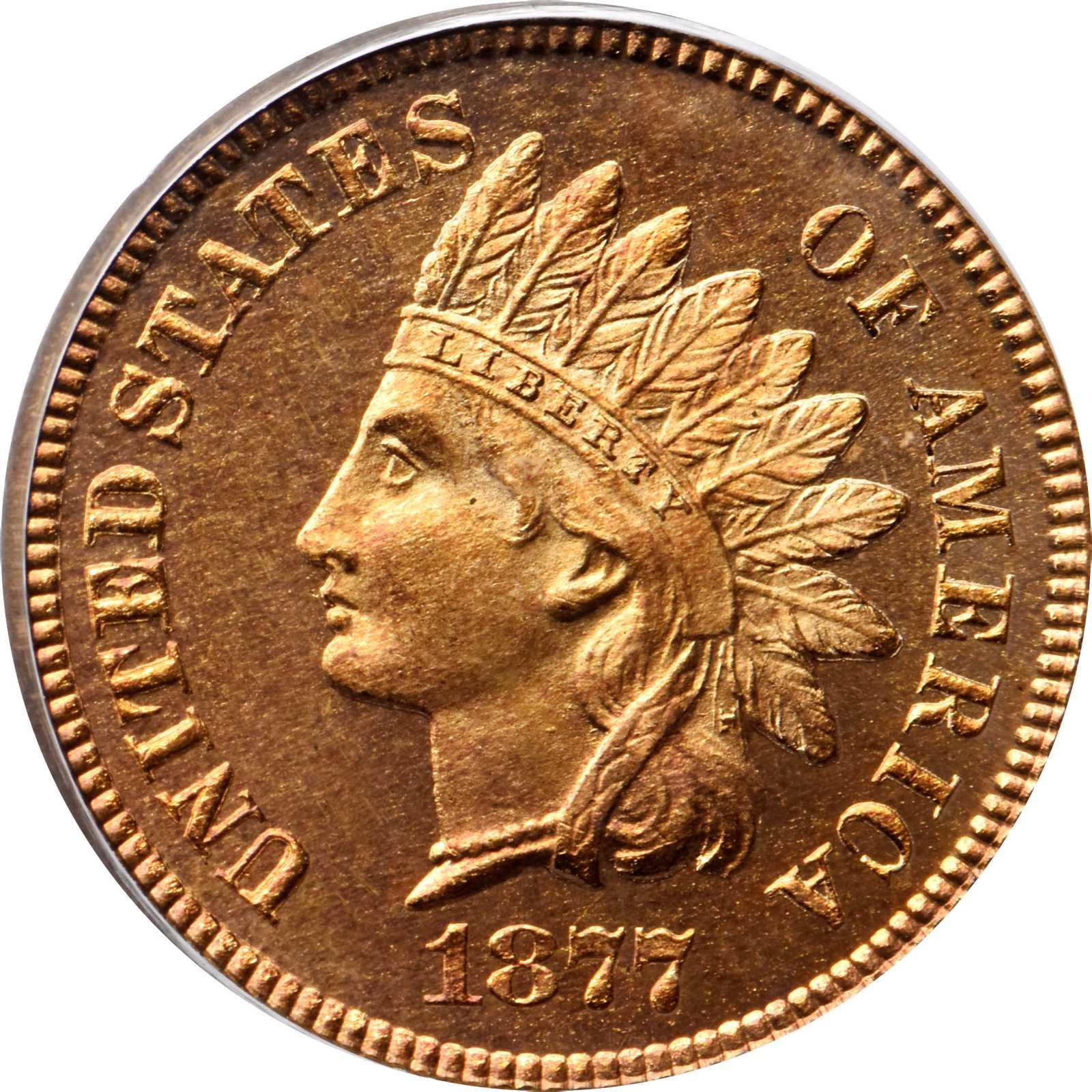 Gem Proof 1877 Indian Cent