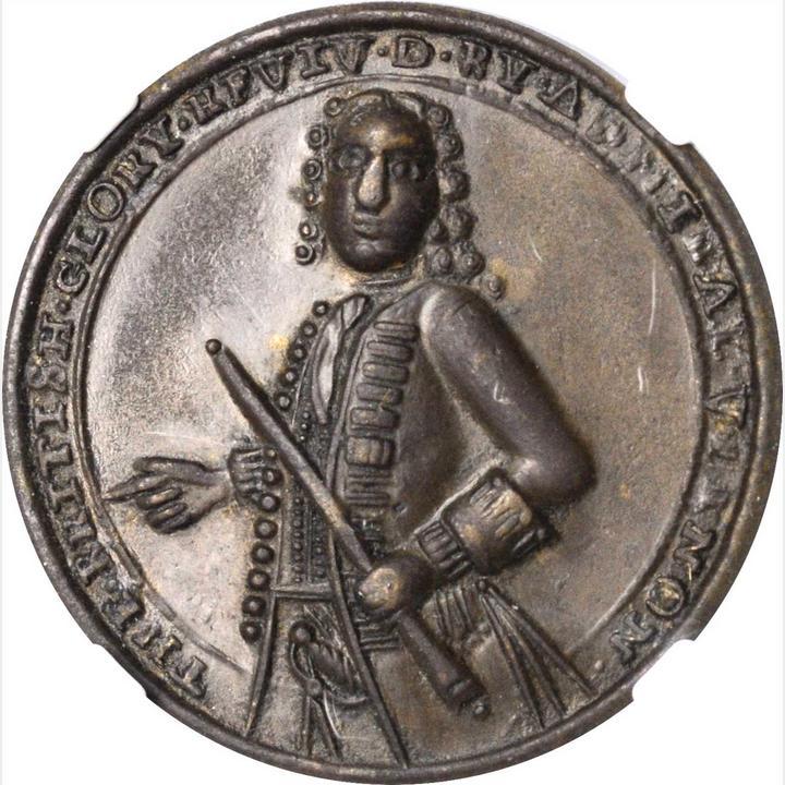 1739 Admiral Vernon Medal  Porto Bello Medals with Vernon's