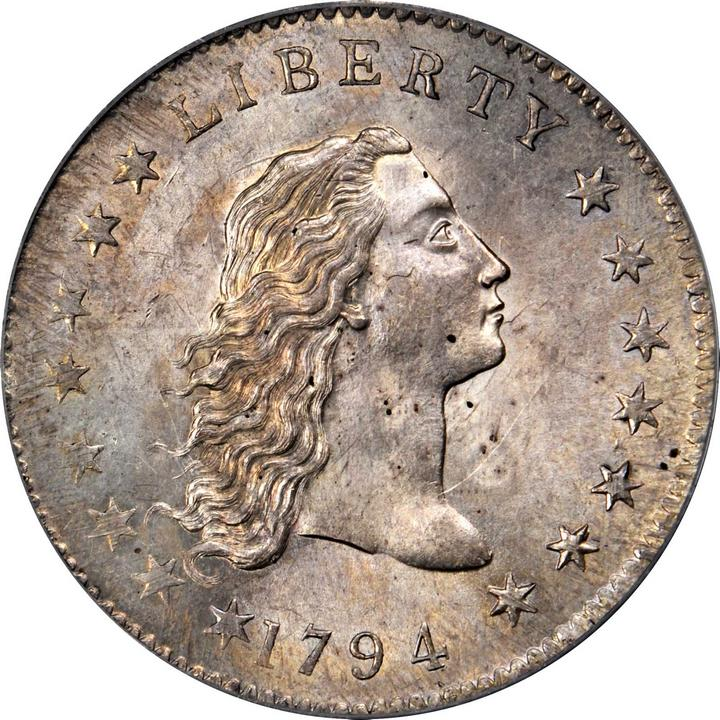 1794 Flowing Hair Silver Dollar  BB-1, B-1, the only known dies
